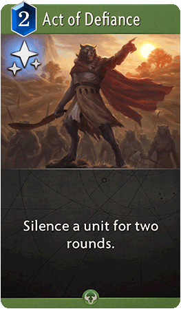 Act of Defiance Card