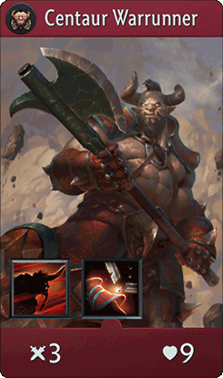 Centaur Warrunner Card