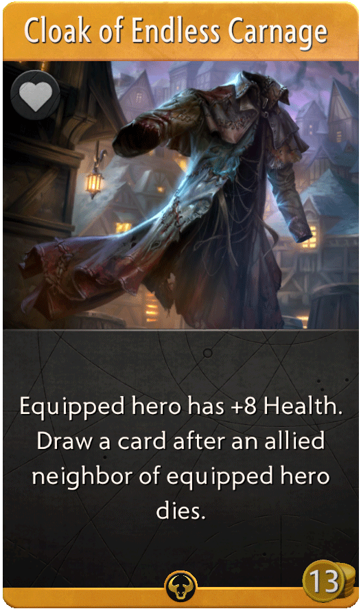 Cloak of Endless Carnage Card