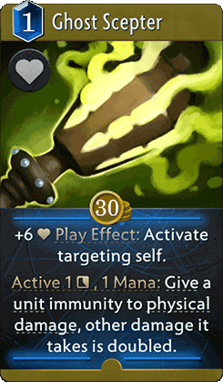 Ghost Scepter Card