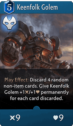 Keenfolk Golem Card
