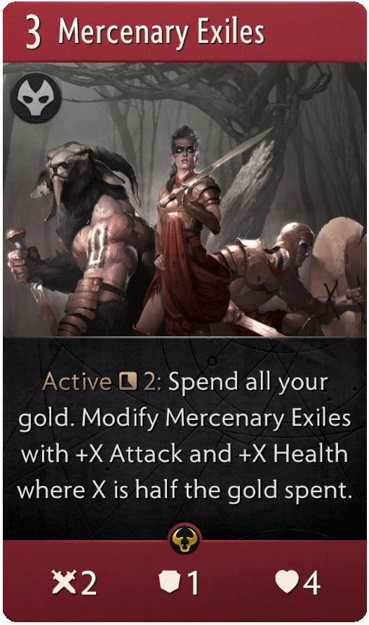 Mercenary Exiles Card