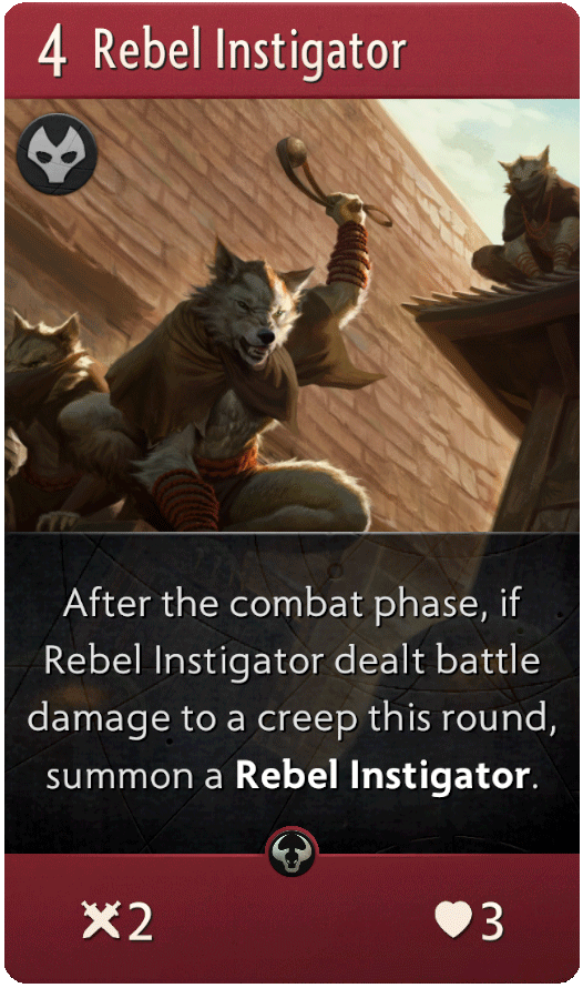 Rebel Instigator Card