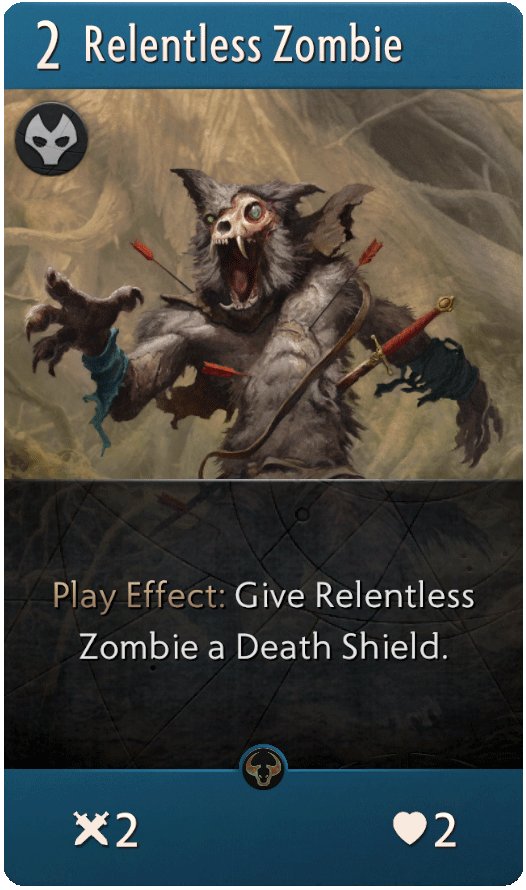 Relentless Zombie Card