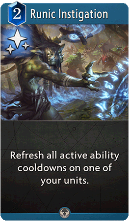 Runic Instigation Card