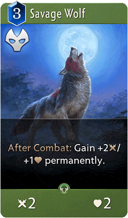 Savage Wolf Card
