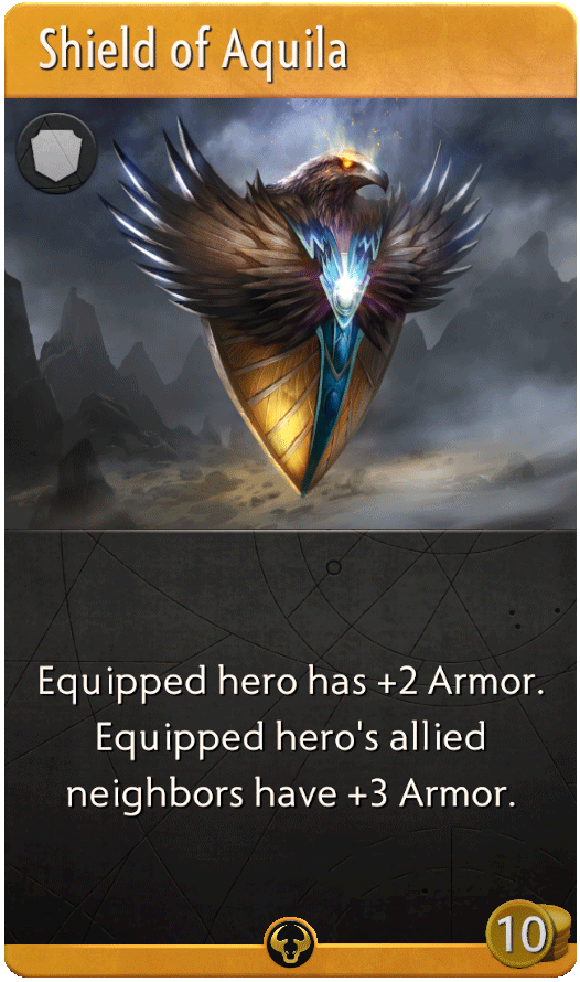 Shield of Aquila Card