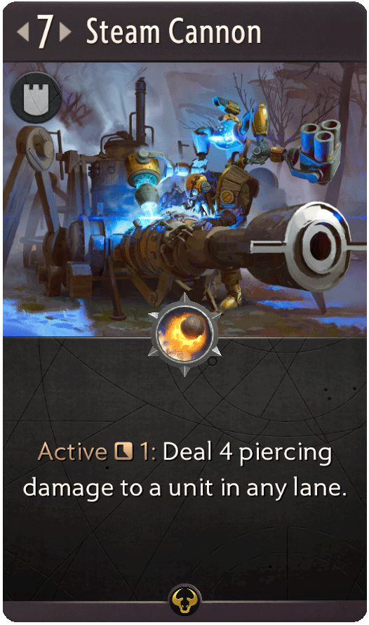 Steam Cannon Card